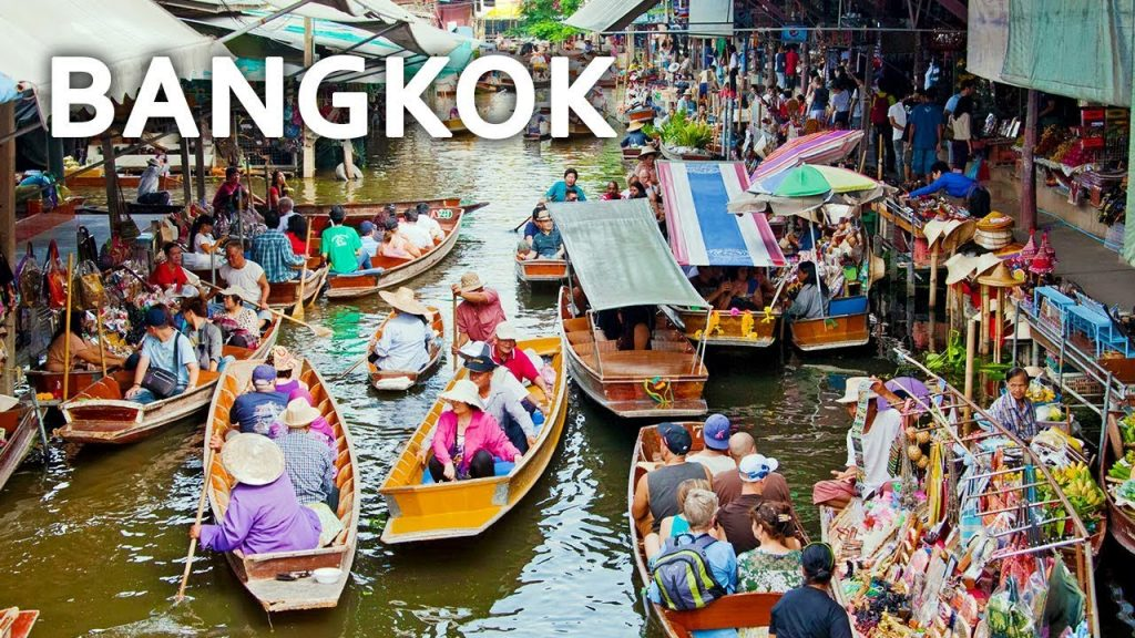 Floating Market with kids